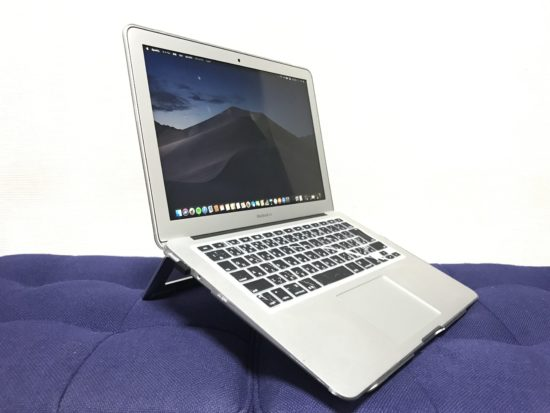 マックブックやノートパソコンにシンプルでおすすめ【PCスタンド】